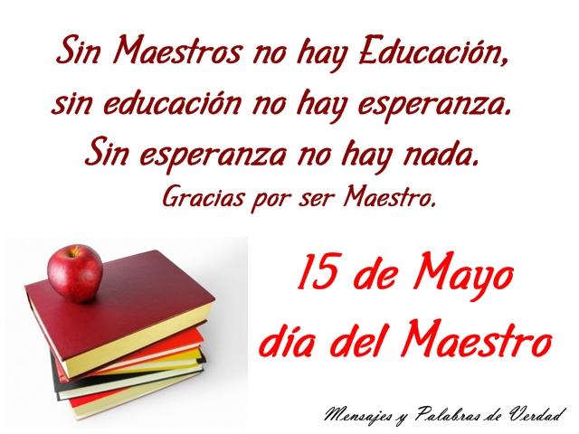Tarjetas Para El DIA Del Maestro