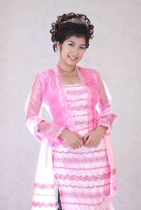 Maw Phu Maung in Pinky Burmese Fashion Dresses | fashion