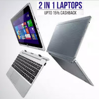 Buy 2-in-1 Laptops with extra 20% Cashback from Rs. 14390 at PayTM