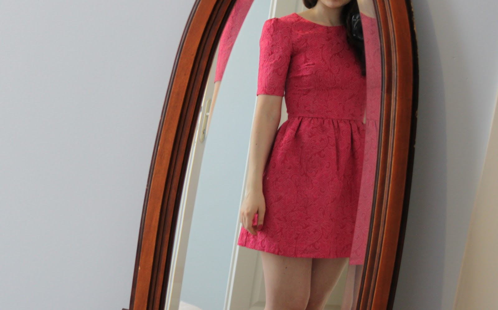 Robe rose fushia h&m