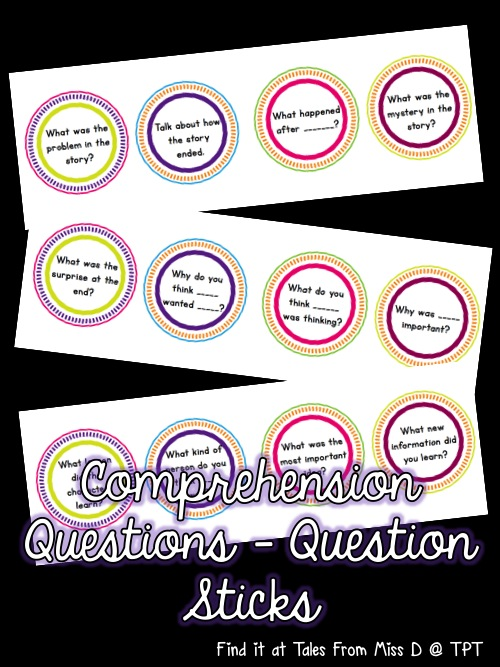 http://www.teacherspayteachers.com/Product/Comprehension-Questions-Comprehension-Sticks-1428700