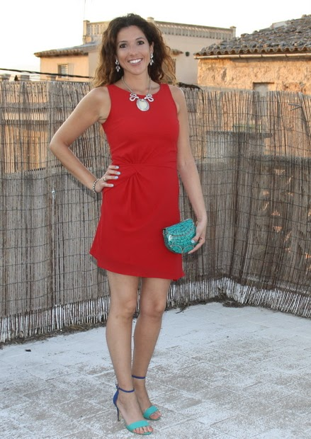 vestido rojo coctel