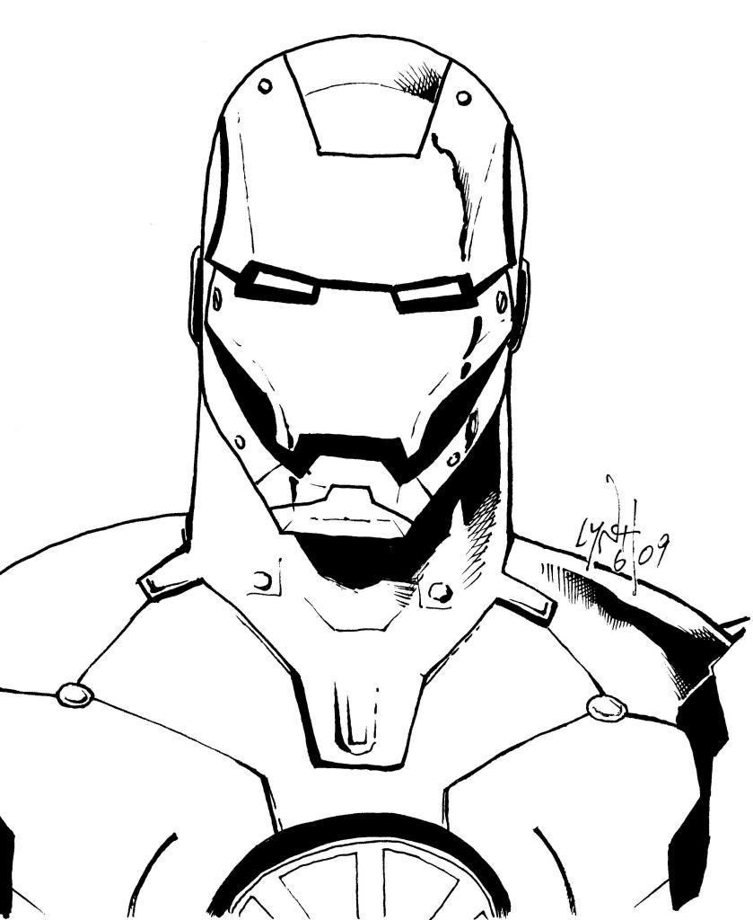 Iron Man Coloring Pages pssucai