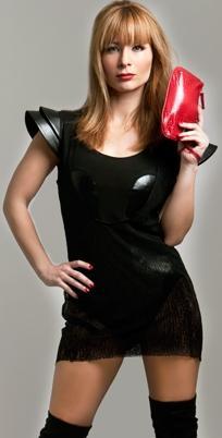 Olenka Zimmerman con maquillaje