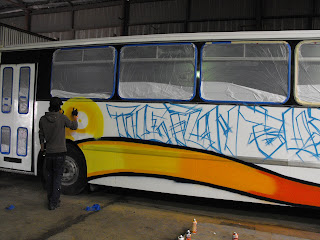 airbrush art bus dobell designs traditional signs Sydney New South Wales