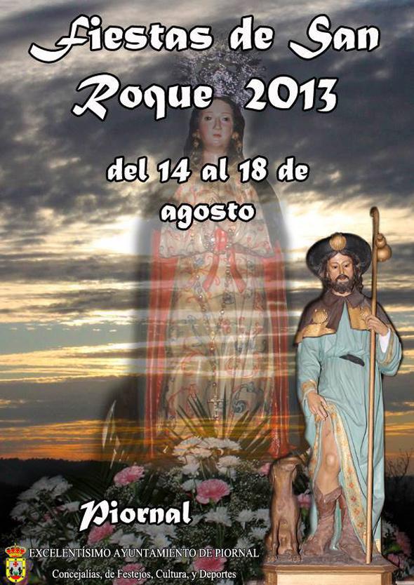 Cartel de las Fiestas de San Roque 2013 en Piornal