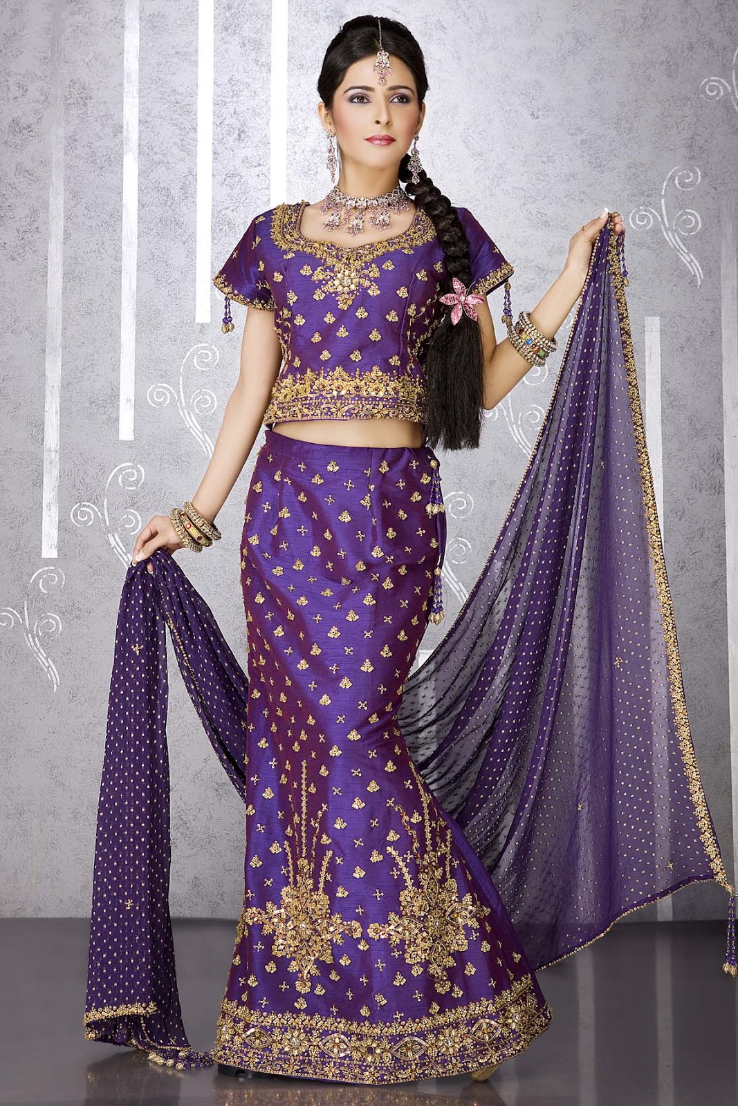 Gallery For Purple Indian Wedding Dress