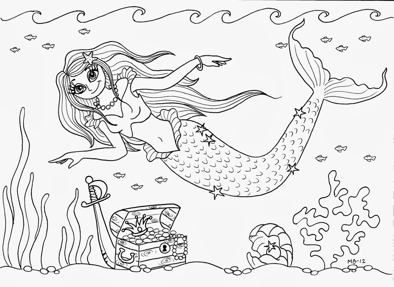 havfrue tegning