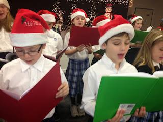 Montgomery Catholic Elementary Choir Brings Christmas Cheer to Seniors. 1