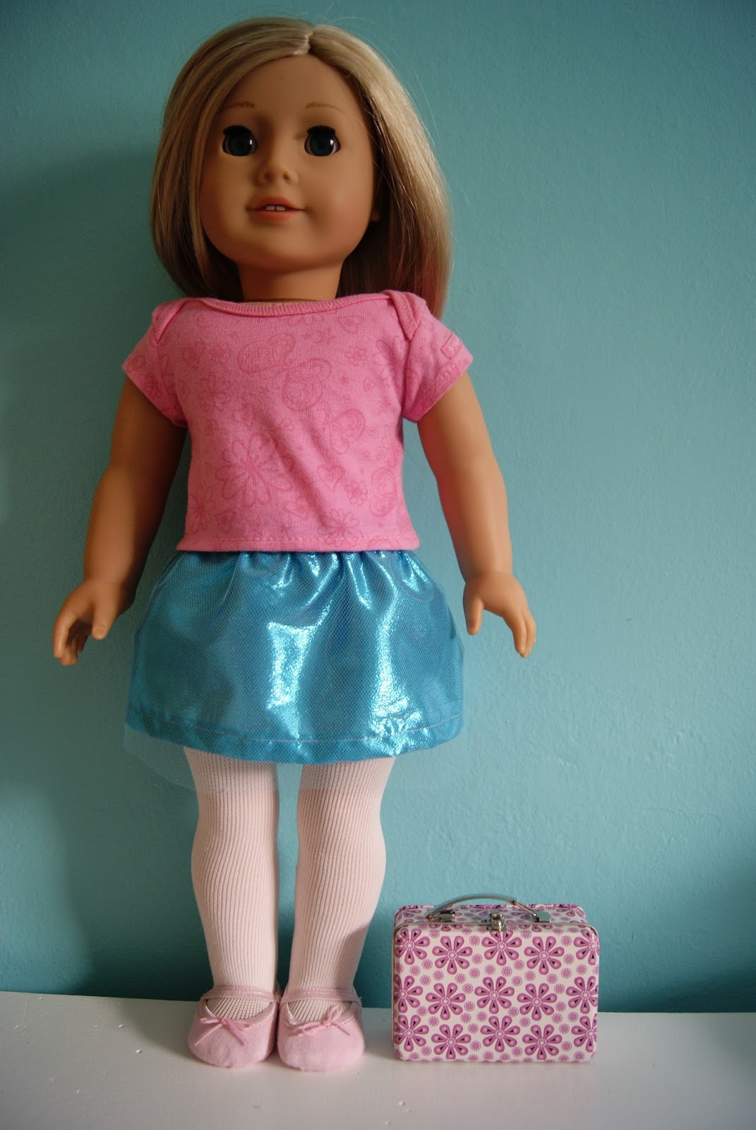 tulle and tissue lame skirt for 18-inch doll by nest full of eggs