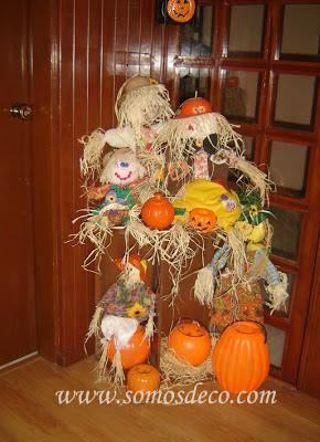 decoración casera de halloween