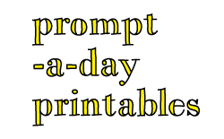 prompt-a-day printables