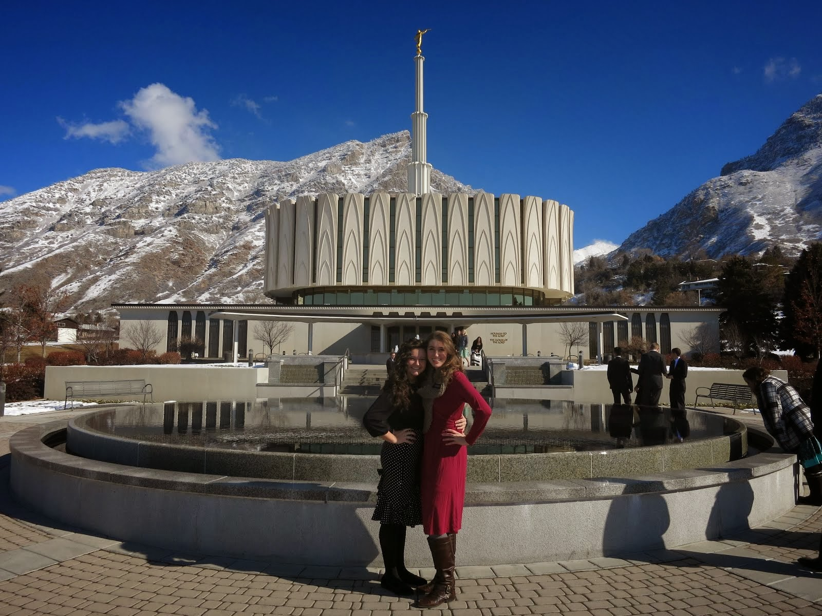 My awesome MTC companion Sister Worrall and I in front of the Provo Temple