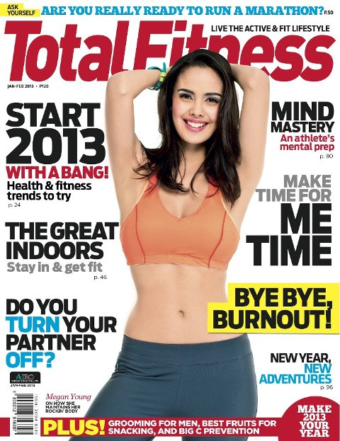 Megan Young Covers Total Fitness January/February 2013 Issue