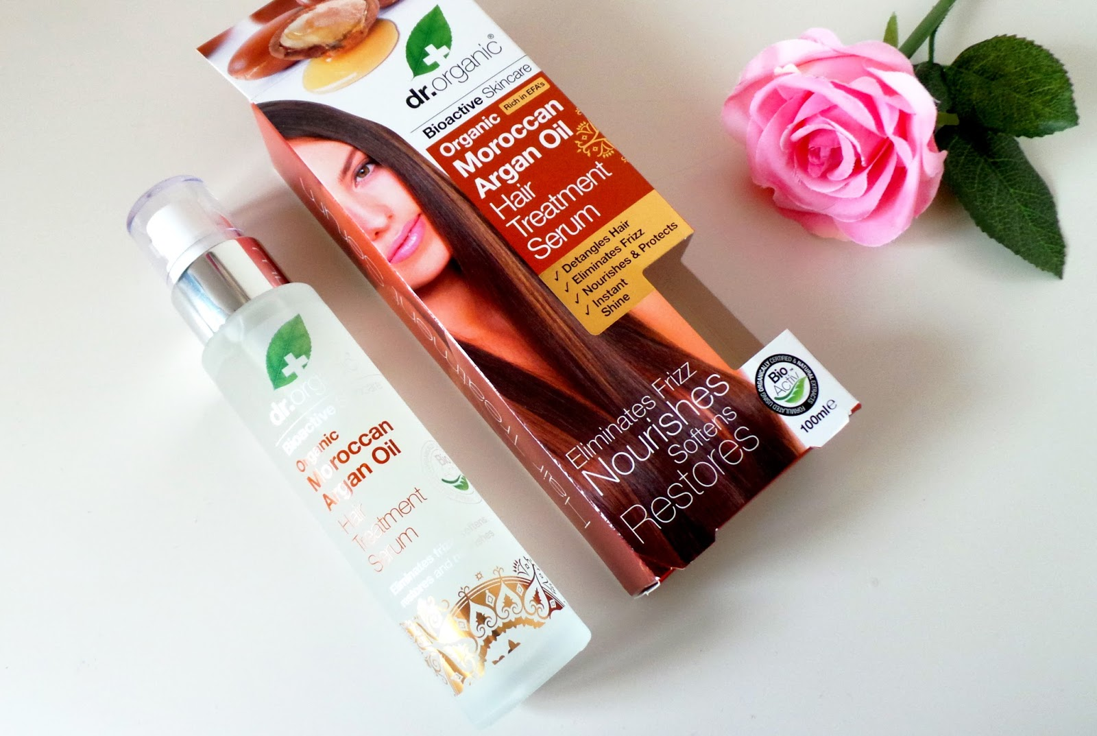 Dr. Organic Moroccan Argan Oil Hair Treatment Serum Review