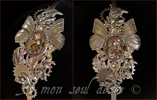 Bijou Steampunk Ailes Papillon Printemps Jewellery Butterfly Clockwork