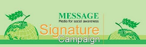 Signature Campaign ,say no to polythene bag