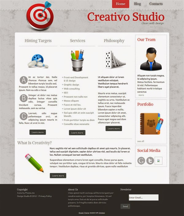Creativo Studio - Free Drupal Theme