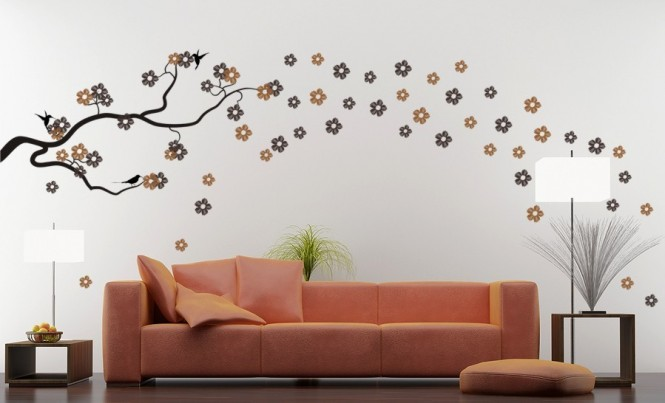 Modern Homes Interior Decoration Wall Painting Designs Ideas.