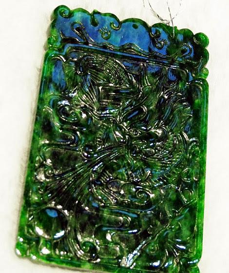 Green imperial jade pendant