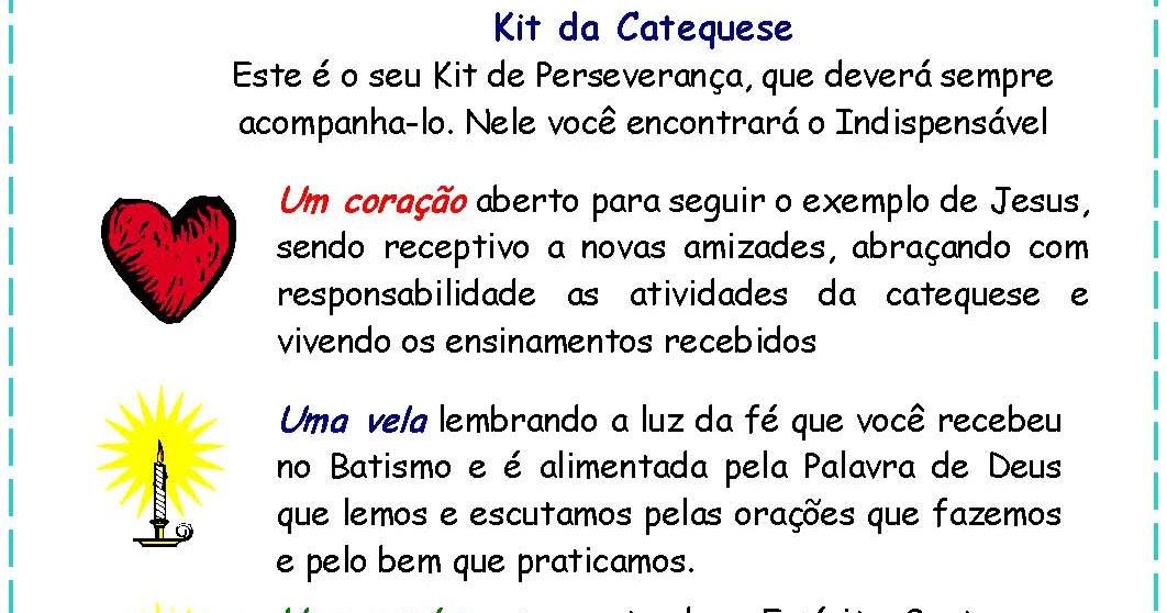 Catequizando crian as kit da catequese for Kit da 3 bay