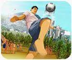 Game bóng đá bãi biển.