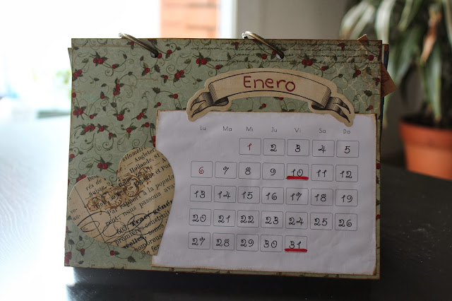 Calendario scrapbooking enero