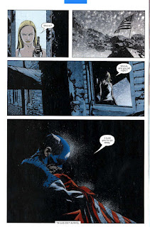 Hana conforta Steve Rogers.Capitan America: Ghiaccio Chuck Austen and Jae Lee