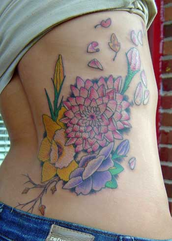 Nice Girl Flower Tattoos For Side Body Tattoos For Girls On Side Of Stomach