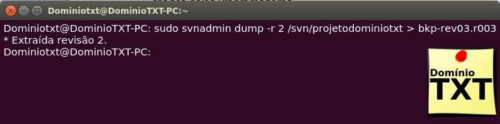 DominioTXT - SVN DUMP -R