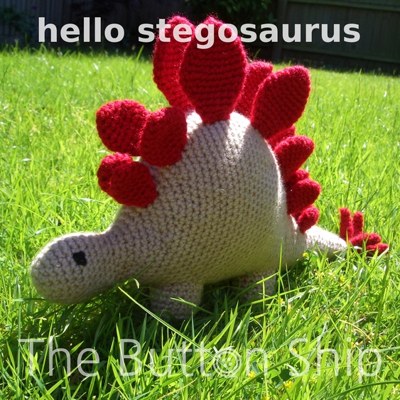 The Button Ship Free Pattern Hello Stegosaurus