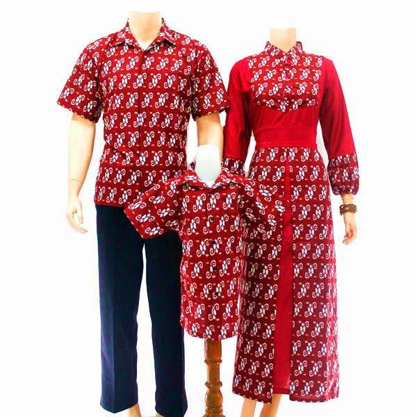 SK036 Model Baju Sarimbit Batik Modern Terbaru 2014