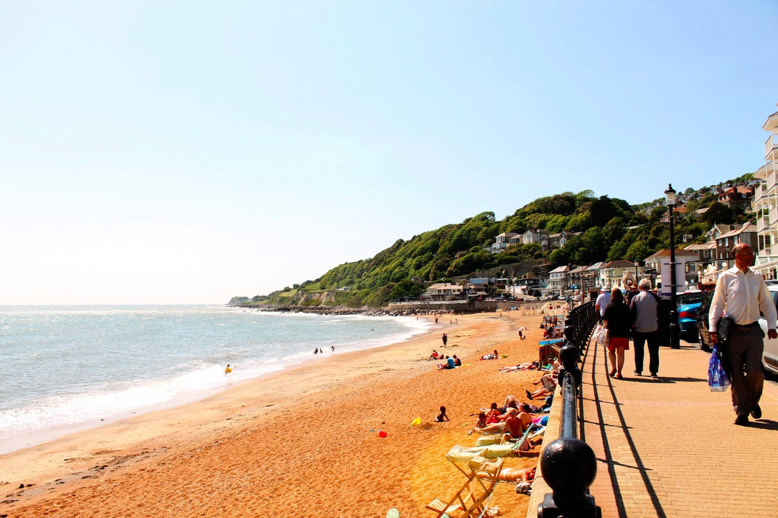 isle of wight ventnor haven town seaside view beach