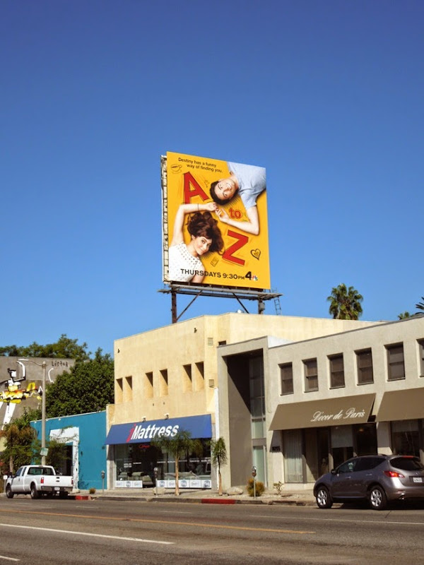 A to Z NBC sitcom billboard