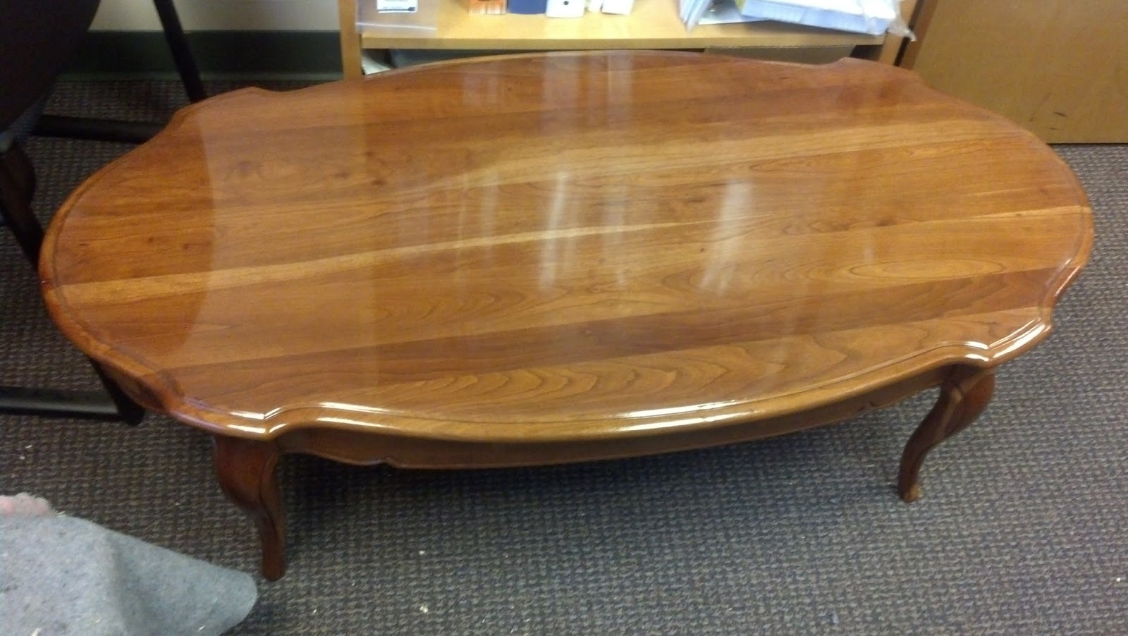 Furniture Repair: Refinish Coffee Table And End Tables  Project Log. Full resolution  portraiture, nominally Width 1600 Height 902 pixels, portraiture with #7C4B26.