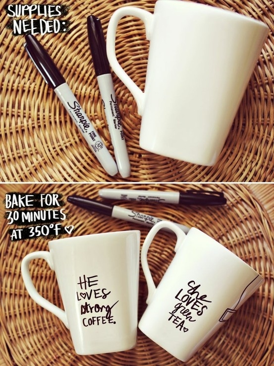 Sharpie and ceramic mug project