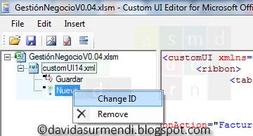 Opción para cambiar el identificador de la imagen.