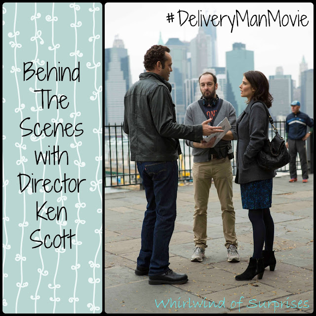 Behind the scenes of the #DeliveryManMovie set with Ken Scott, Vince Vaughn and Cobie Smulders #DeliveryManEvent