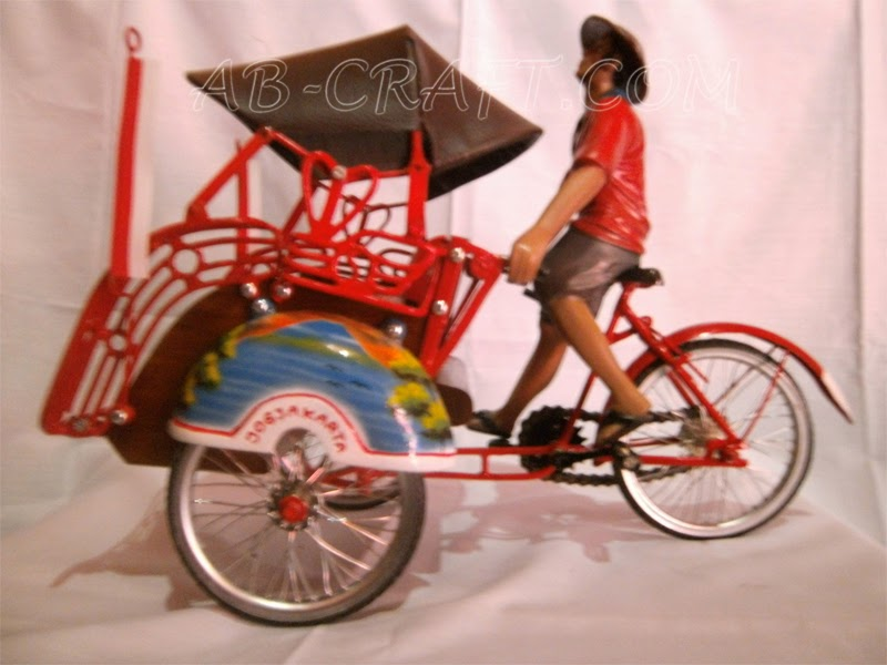 Pedicab + people Copper Brass Miniature Tricycles_www.ab-craft.com.png.