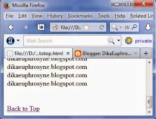 contoh hasil dari code link HTML