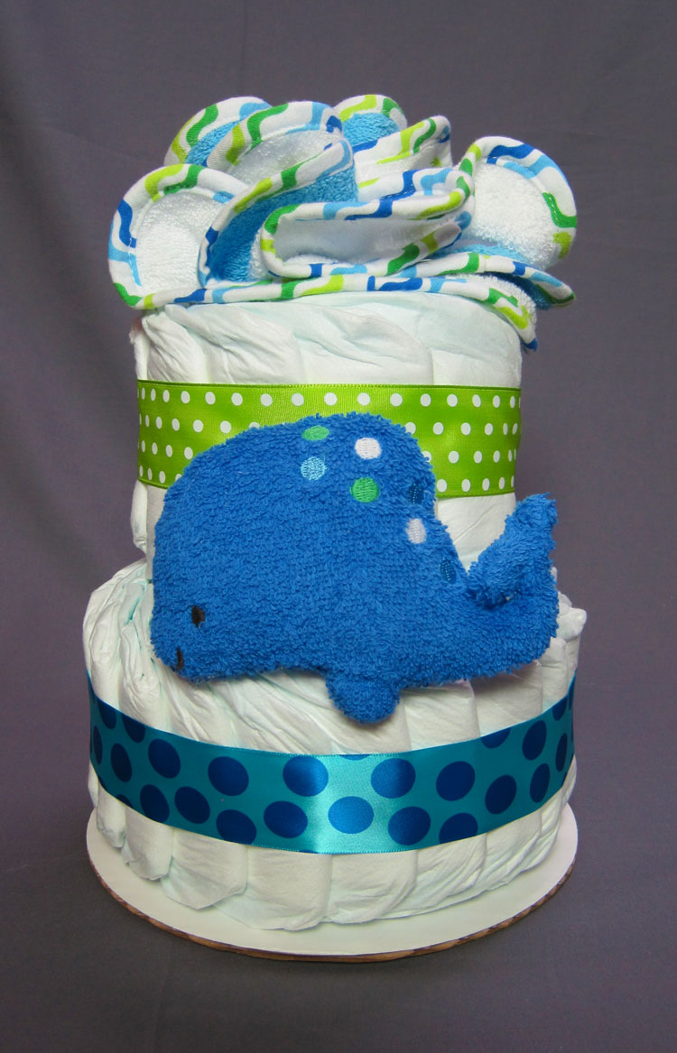 Under the Sea Small 2 Tier Diaper Cake
