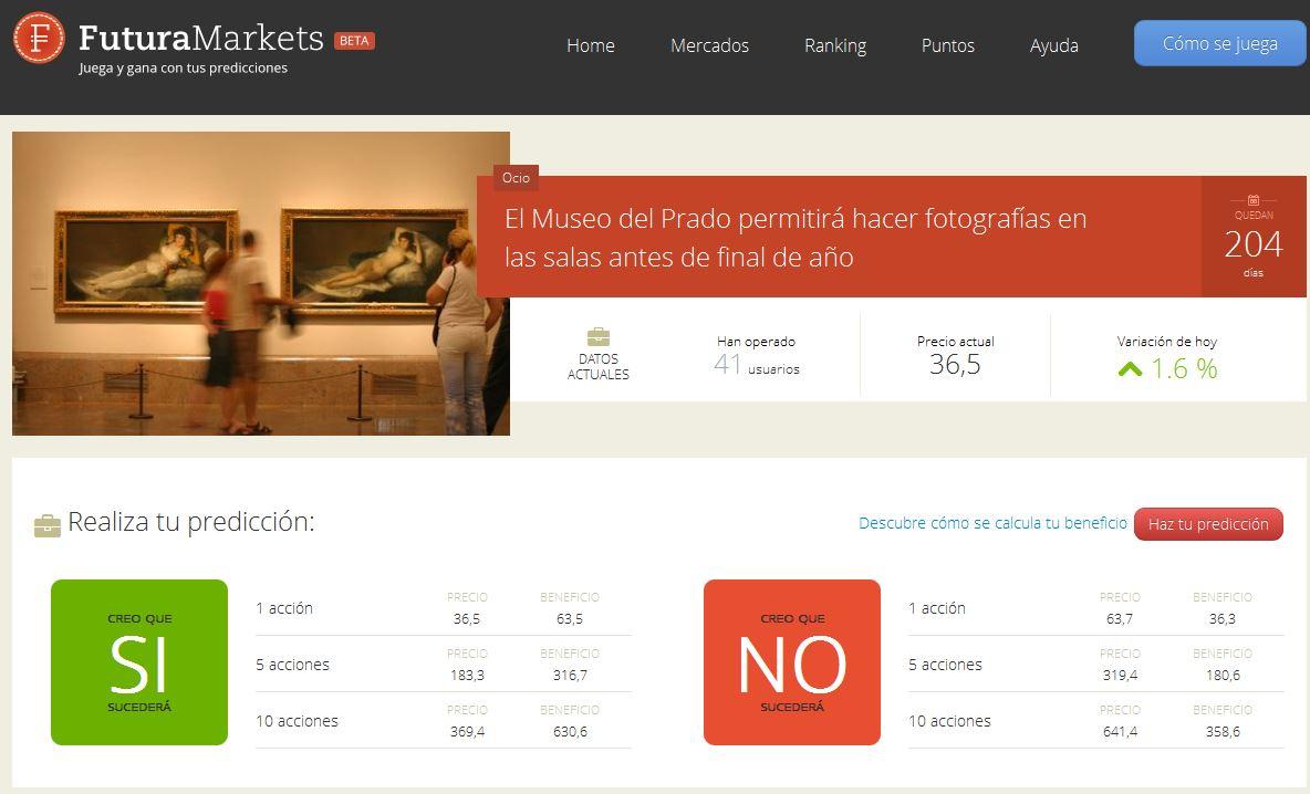 FuturaMarkets, Mercado de predicciones