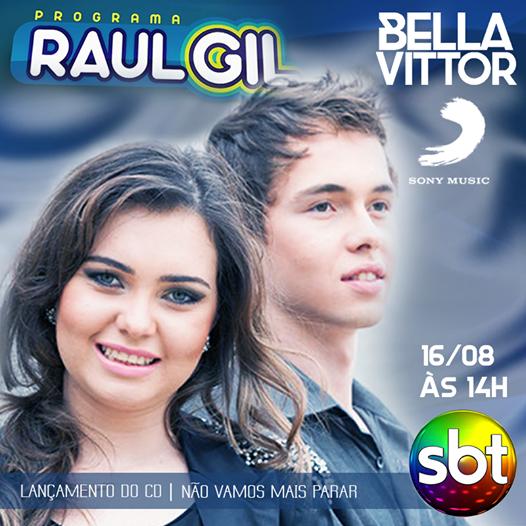 Bella e Vittor no Raul Gil