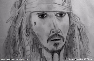 Jack Sparrow Sketch by Maninder Pal Singh