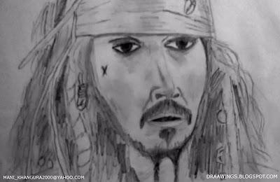 Jack Sparrow Sketch by Maninder Pal Singh