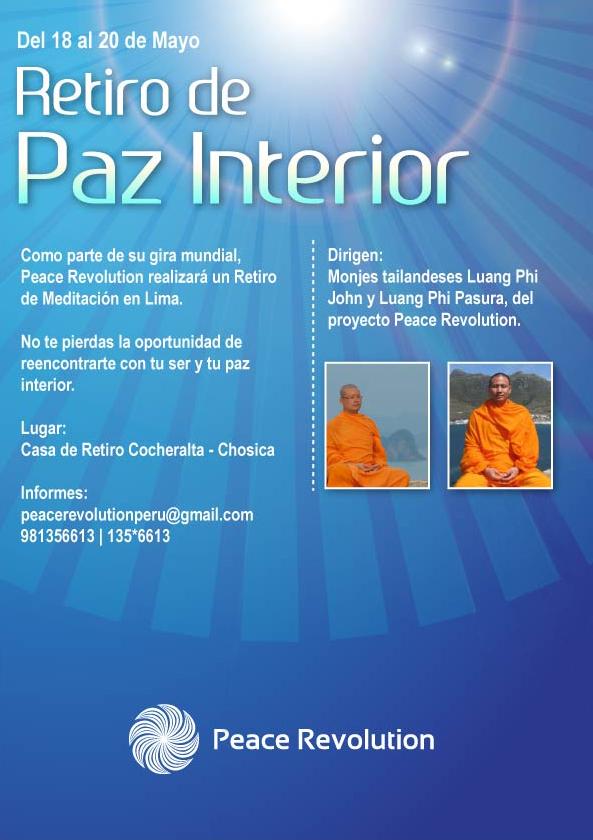 Peace revolution retiro de paz interior y meditaci n con for Meditacion paz interior