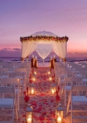 Glamorous Candlelight Beach Wedding