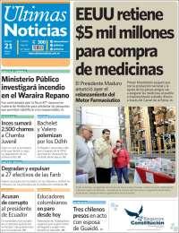 PRIMERA PAGINA DE ULTIMAS NOTICIAS DE CARACAS