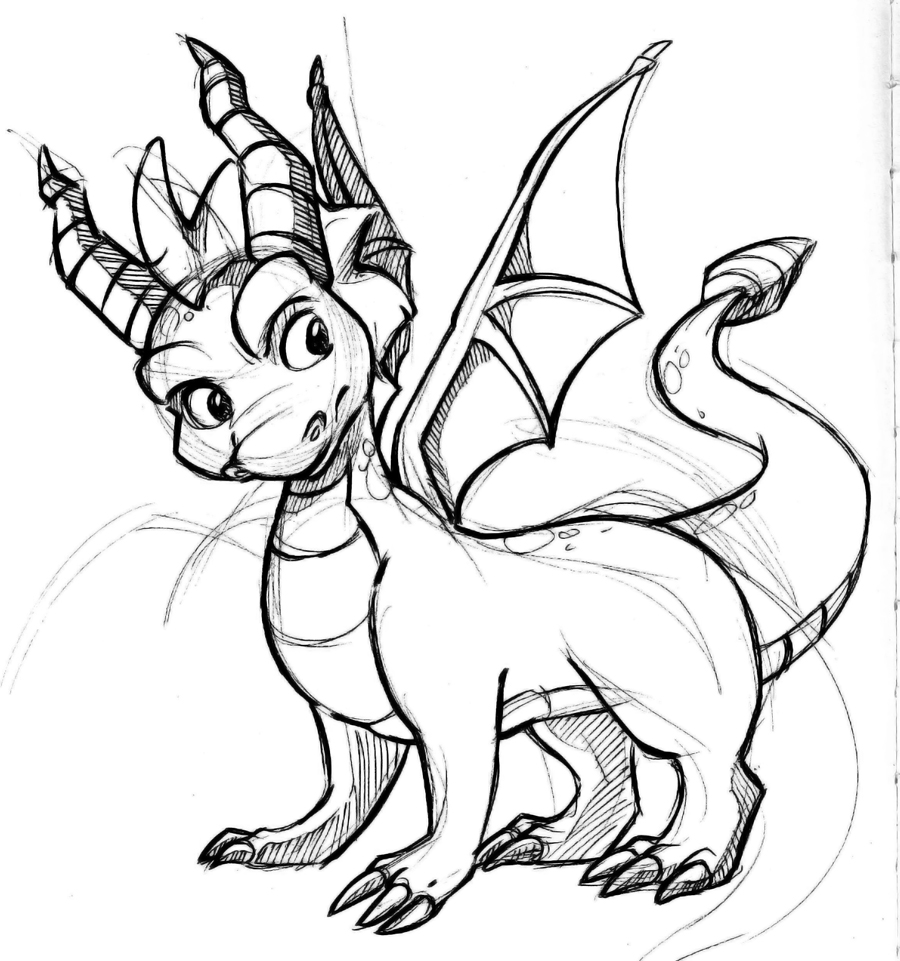 Friendly Dragon Coloring Pages Spyro Coloring Pages