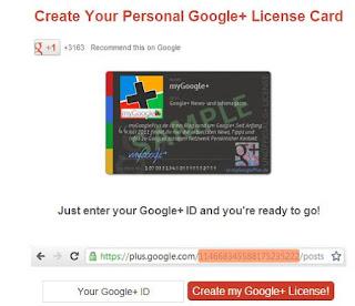 tarjeta de licencia non-oficial Google